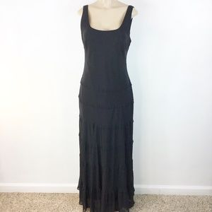 Chaps Long Maxi Dress Formal Size 14 Black